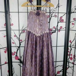 Handmade Fairy Ball Gown Fantasy Prom Dress Lilac
